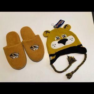 Mizzou Slippers & Hat